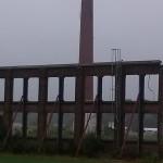 oude fabrieksmuur